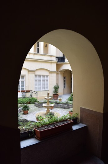 The lovely courtyard