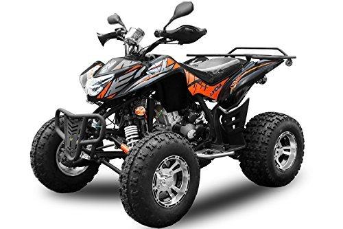 """AUFGEBAUT EGL 250cc Sport Quad mit Straßenzulassung 10"""" Reifen Anhängerkupplung Gangschaltung+Rückwärtsgang ATV Bike"""