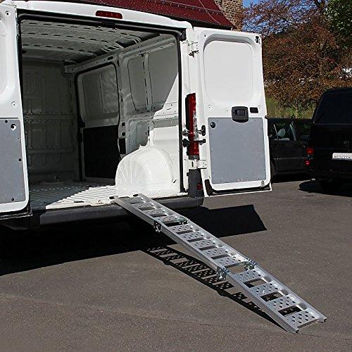 Alu Auffahrrampe Constands III, bis 300 kg, dreifach zusammenklappbar, für Motorrad, Scooter, Quad, ATV