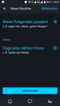 Alexa neue Routine anlegen