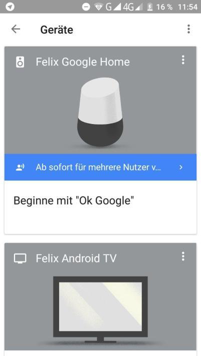 google home mehrere nutzer