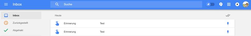 Google Home Erinnerung Inbox