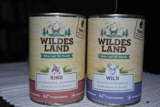 Test-Futtern von Wildes Land Nassfutter