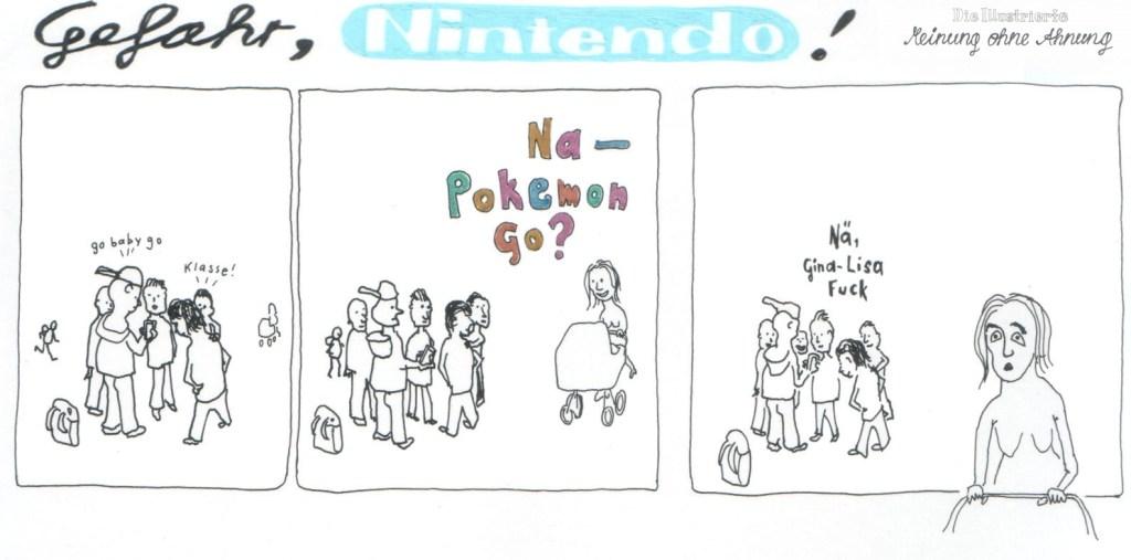 Pokemon go Gina-Lisa fuck 2016 Meinung ohne Ahnung