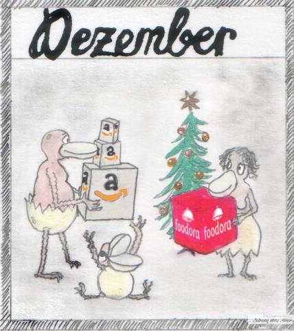 Weihnachten mit Amazon und Foodora Dezember Heini und Heidi 2018 Meinung ohne Ahnung