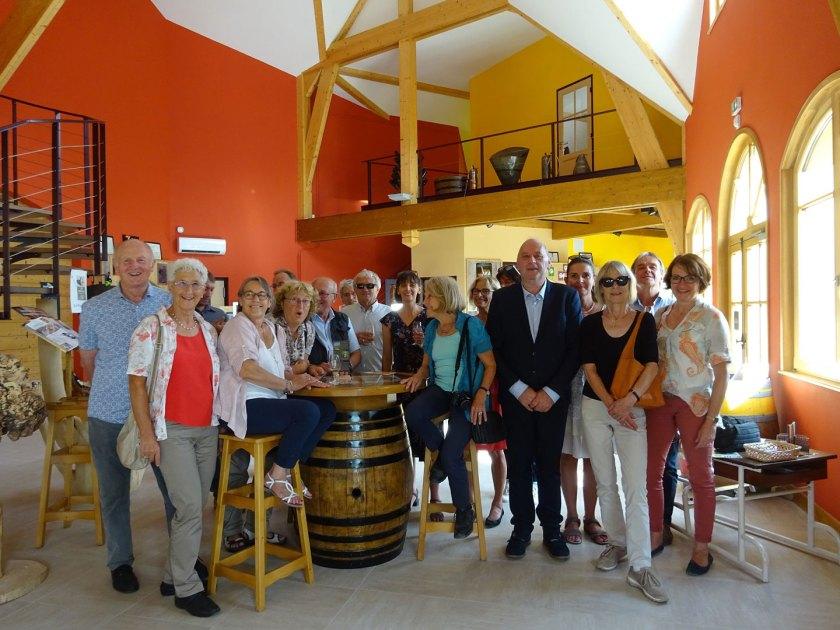 Bürgermeister Christof Nitz, Gemeinderäte, Ortsvorsteher und Mitglieder des Arbeitskreises Städtepartnerschaften wurden im Rathaus von Bürgermeister Bonnet und zahlreichen Polignois sehr herzlich willkommen geheißen.