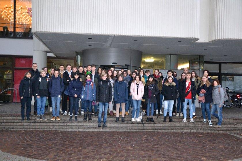 Empfang von Schülern des Lycée Charles de Gaulle aus Vannes im Rathaus