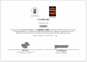 Exemplo de certificado no LibreOffice