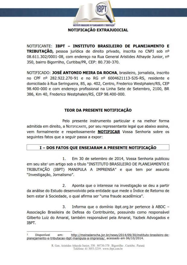 NOTIFICACAO_EXTRAJUDICIAL_IBPT_JOSE_06.10.2014_novo_1