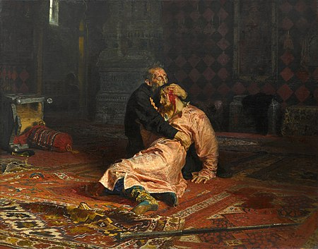 Ivan the Terrible and His Son Ivan 1581