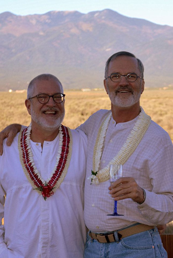 Scott Wiggerman and David Meischen on their wedding day.