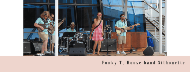 On board Funky T house band Celebrity Silhouette