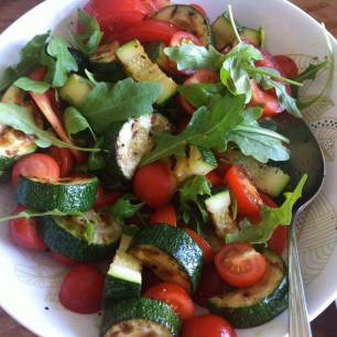 salade gegrilde courgette