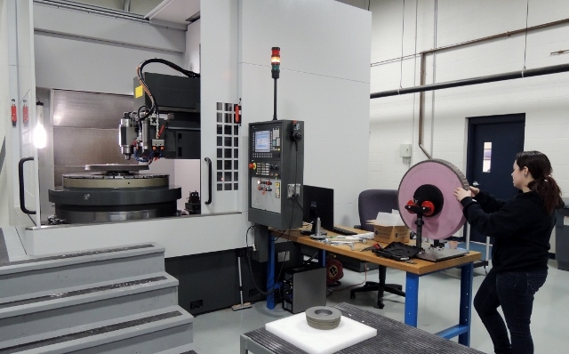Advanced Large Wheel Cell in full operation at Meister Abrasives USA headquarters reduces lead times for U.S. customers by about 40%