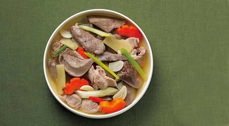 【一鍋養生料理 – 麻油燉豬肝】 – meiweixhiyuan 美味之緣