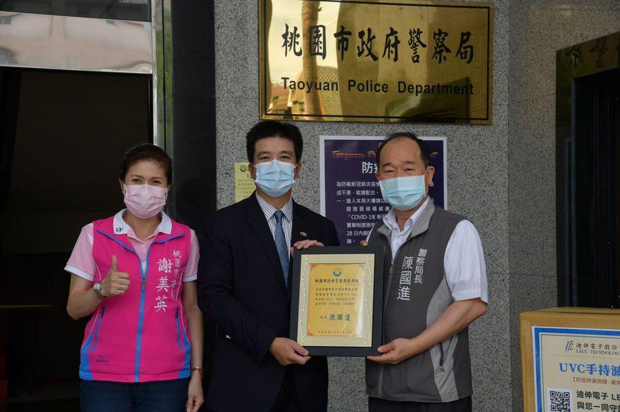 謝美英迪昇電子中壢分局防疫物資