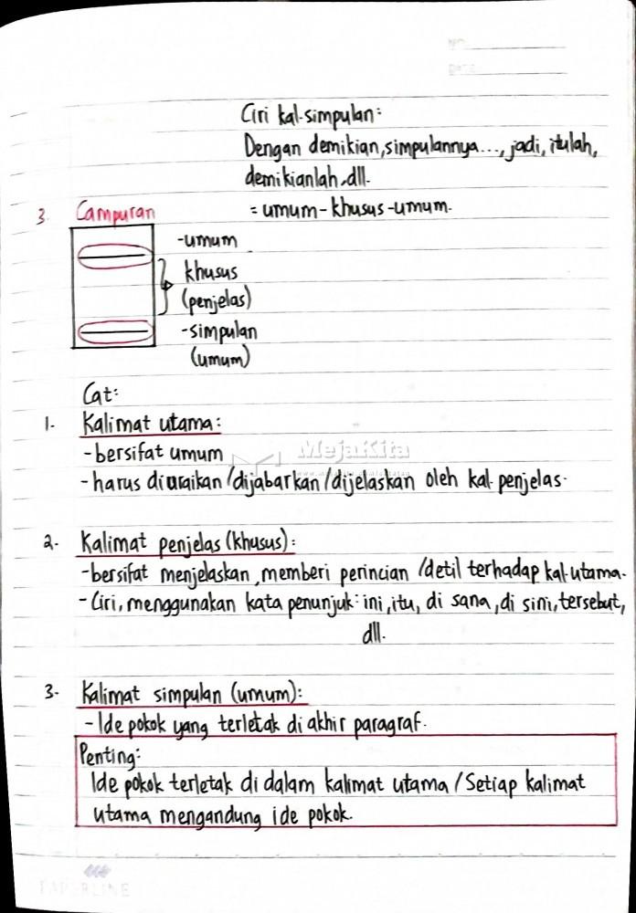 Secara Umum Ide Pokok Berada Di : secara, pokok, berada, Jenis, Paragraf, Berdasarkan, Letak, Kalimat, Utama, Bahasa, Indonesia, Detail, Catatan, MejaKita
