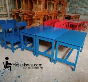 meja tk paud ukuran tunggal