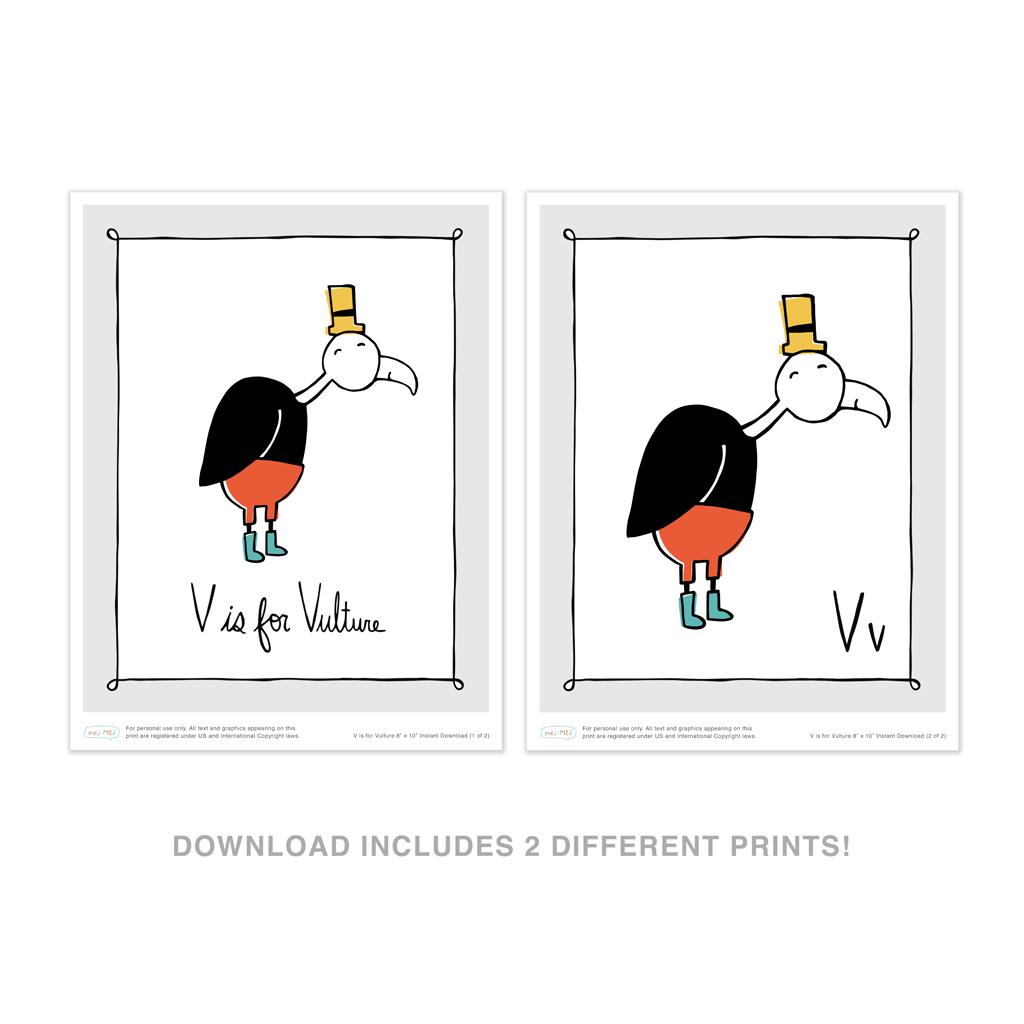 V Is For Vulture Instant Download
