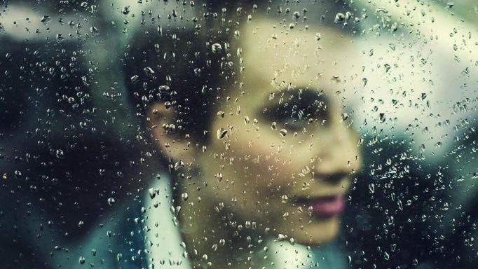 rain, window, person, woman, beauty, face, rainy, raindrops, dro