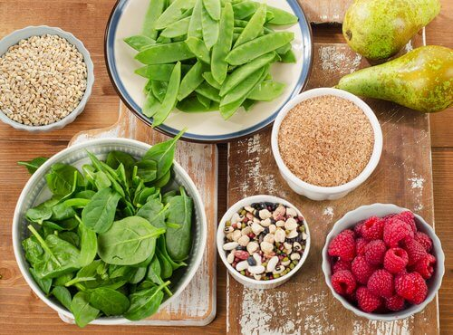 Alimentos vegetales con fibra