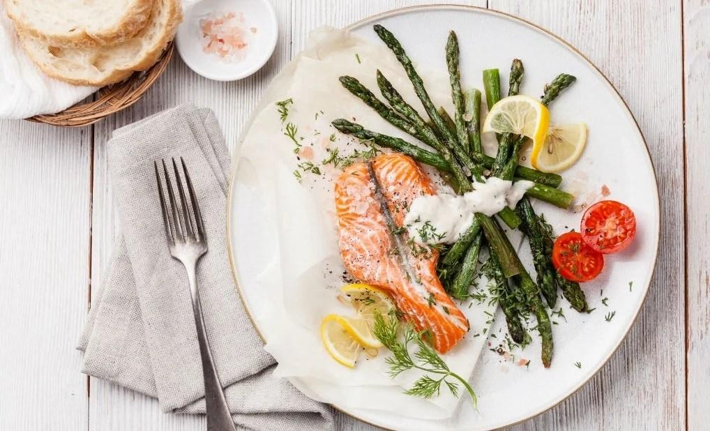 plato de salmón para nuestras cenas