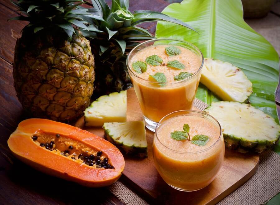 papaya para la inflamación abdominal
