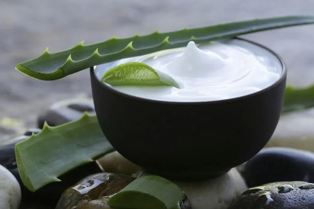 Aloe vera, leche de coco y limón