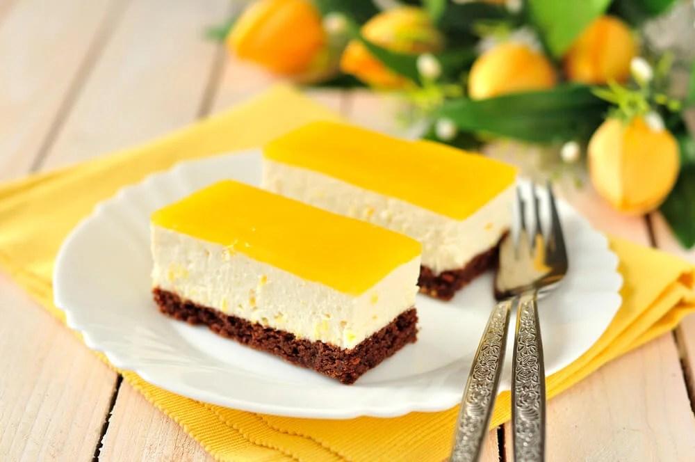 Torta de limón y chocolate