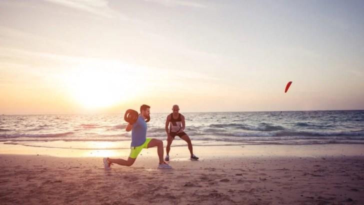 التدريب على الشاطئ