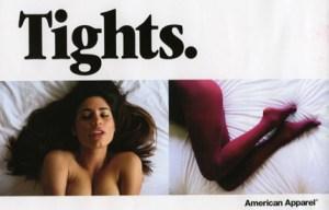 american apparel tights ad