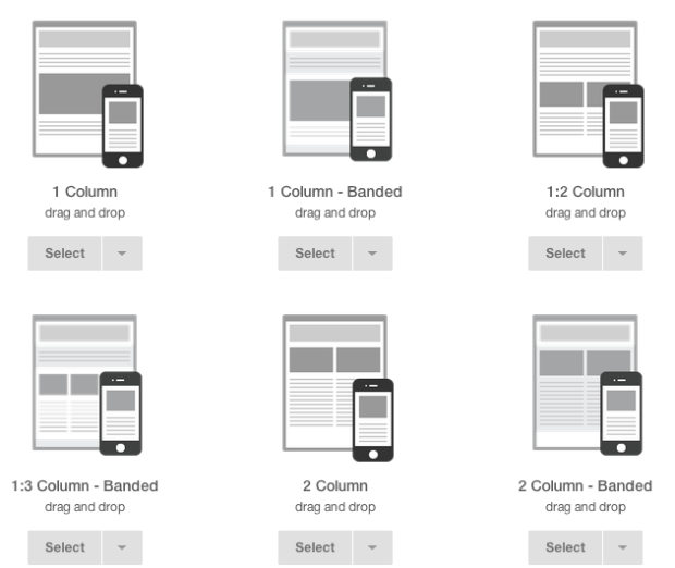 mailchimp templates screenshot