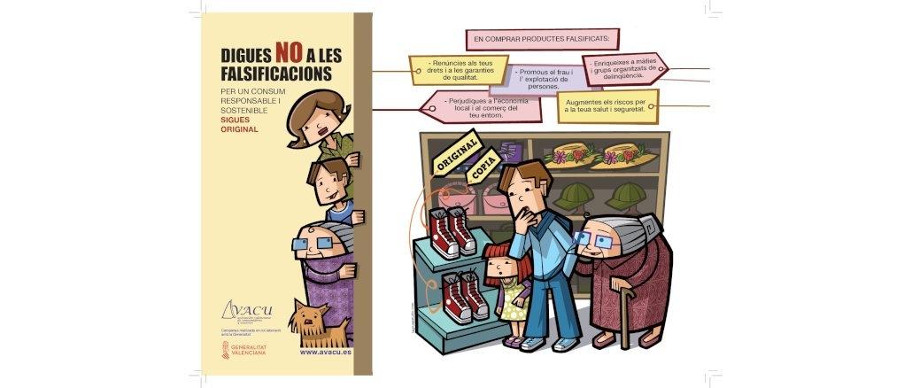 Campaña contra la venta de productos falsificacos