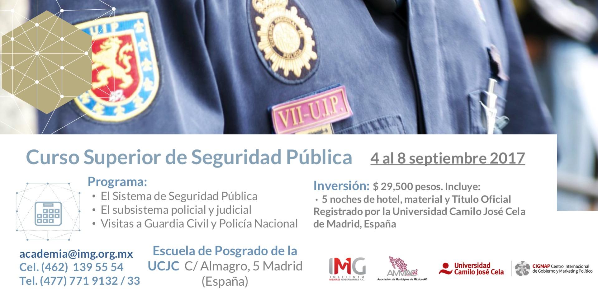 Curso de Seguridad Pública - 4 al 8 de Septiembre 2017