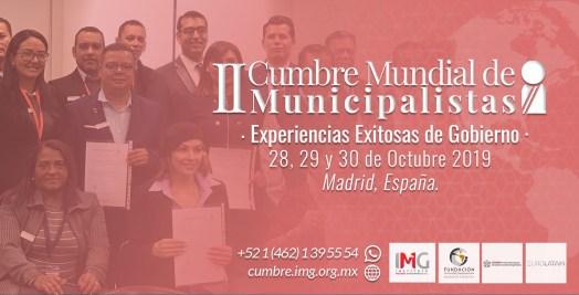 II Cumbre Mundial de Municipalistas, Madrid, España. Octubre 2019. Instituto Mejores Goberantes
