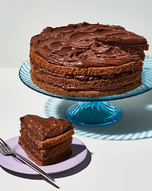 Pastel de mousse de chocolate negro