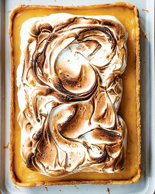 Pastel de merengue de pomelo