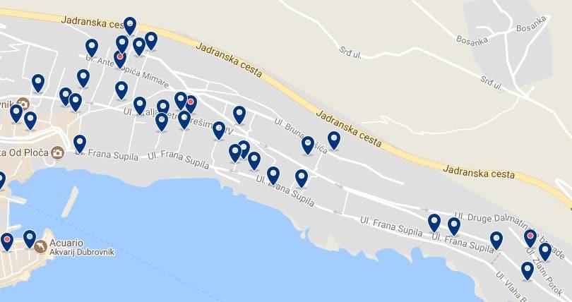 Alojamiento en Ploce - Clica sobre el mapa para ver todo el alojamiento en esta zona