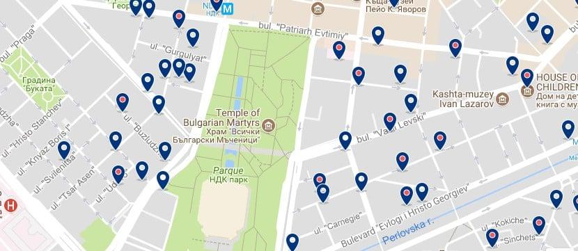 Alojamiento cerca del NDK en Sofía - Clica sobre el mapa para ver todo el alojamiento en esta zona.png