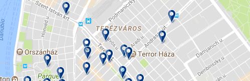 Alojamiento en Terézváros - Clica sobre el mapa para ver todo el alojamiento en esta zona