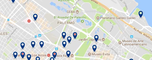 Alojamiento en Palermo - Clica sobre el mapa para ver todo el alojamiento en esta zona