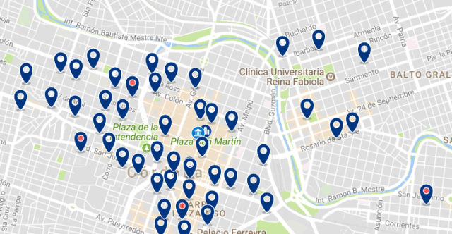 Accommodation near Cordoba's Cathedral - Click on the map to see all available accommodation in this area