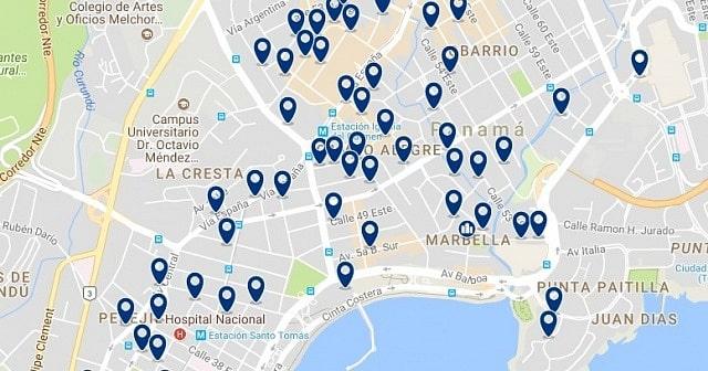 Alojamiento en Bella Vista - Clica sobre el mapa para ver todo el alojamiento en esta zona