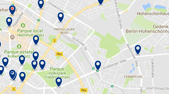 Staying in Prenzlauer Berg - Click on the map to see all available accommodation in this area