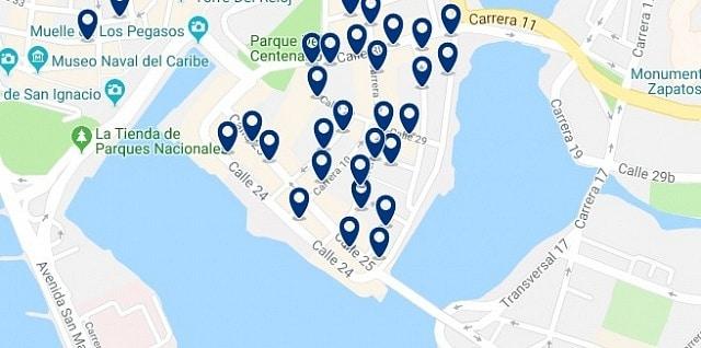 Alojamiento en Getsemaní - Haz clic para ver todo el alojamiento disponible en esta zona