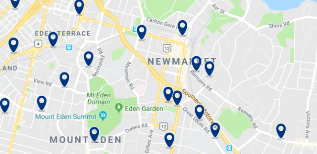 Alojamiento en Newmarket - Clica sobre el mapa para ver todo el alojamiento en esta zona