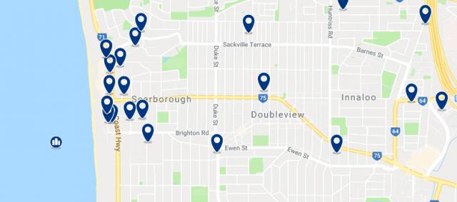 Alojamiento en Scarborough - Clica sobre el mapa para ver todo el alojamiento en esta zona