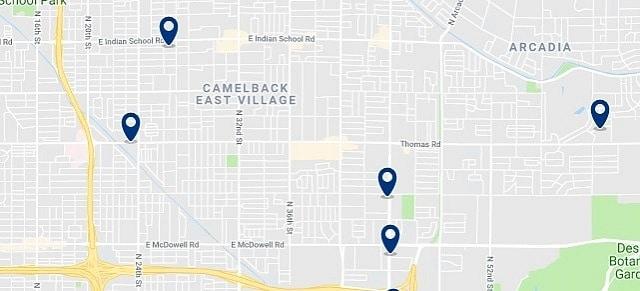 Alojamiento en Camelback East Village - Haz clic para ver todo el alojamiento disponible en esta zona