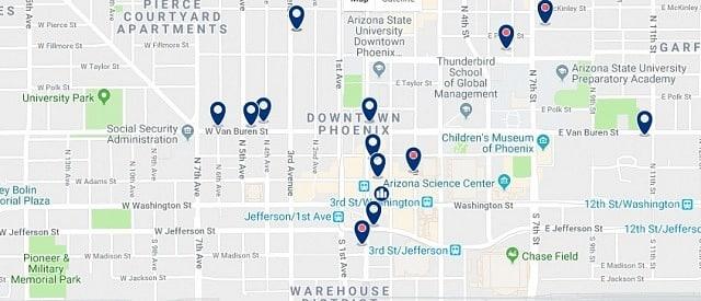 Alojamiento en Downtown Phoenix - Haz clic para ver todo el alojamiento disponible en esta zona