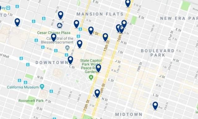 Alojamiento en Downtown Sacramento - Haz clic para ver todo el alojamiento disponible en esta zona